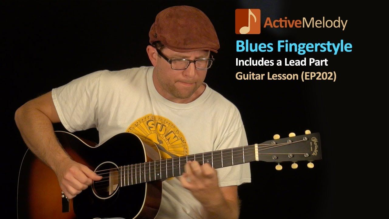 blues guitar lesson fingerstyle blues both rhythm and lead ep202 acoustic guitar blues. Black Bedroom Furniture Sets. Home Design Ideas