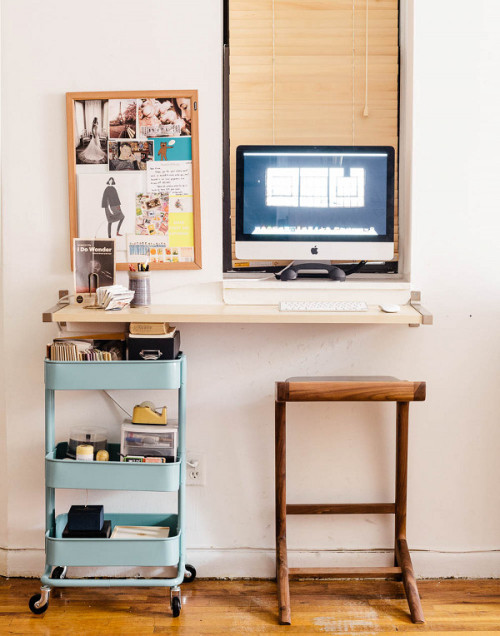 Small Space Solutions The Wall Mounted Desk Diy Bedroom Storage
