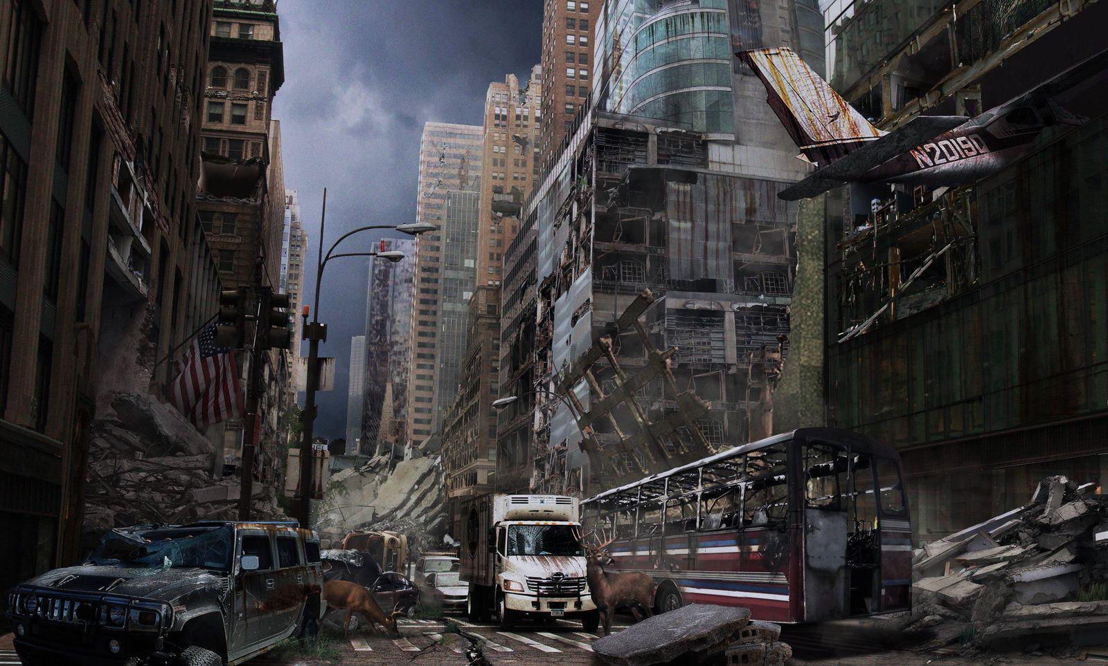 Post Apocalyptic City By Graffiti Freak On Deviantart Post Apocalyptic City Apocalyptic Post Apocalyptic Art