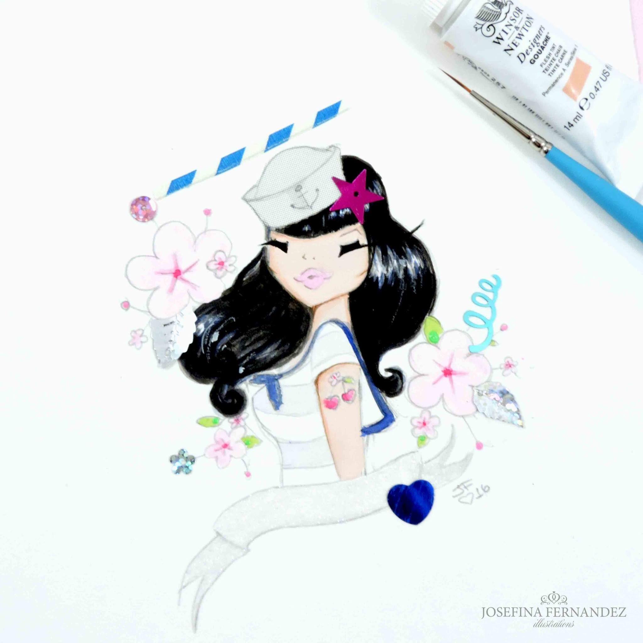 A Lovely Pin Up Piece By Fashion Illustrator Josefina Fernandez