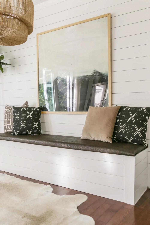 DIY BuiltIn Dining Bench with Storage Breakfast Nook