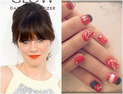 Image result for zooey deschanel nail art
