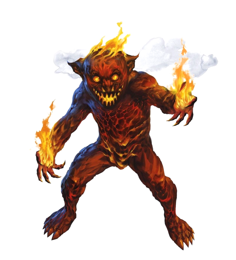 Magmin Monster Plane of Fire - Pathfinder PFRPG DND D&D 3 5