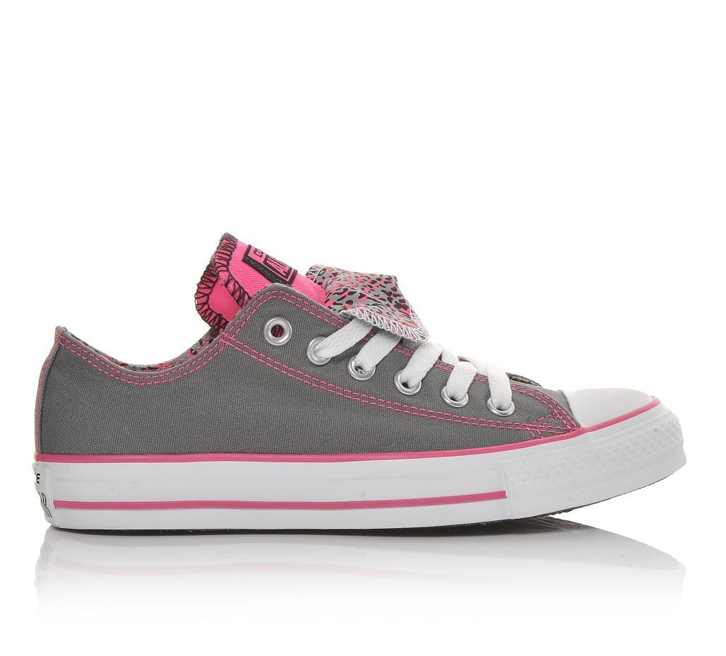 Women s Converse Chuck Taylor Double Tongue Animal Grey Pink  0314ea59f