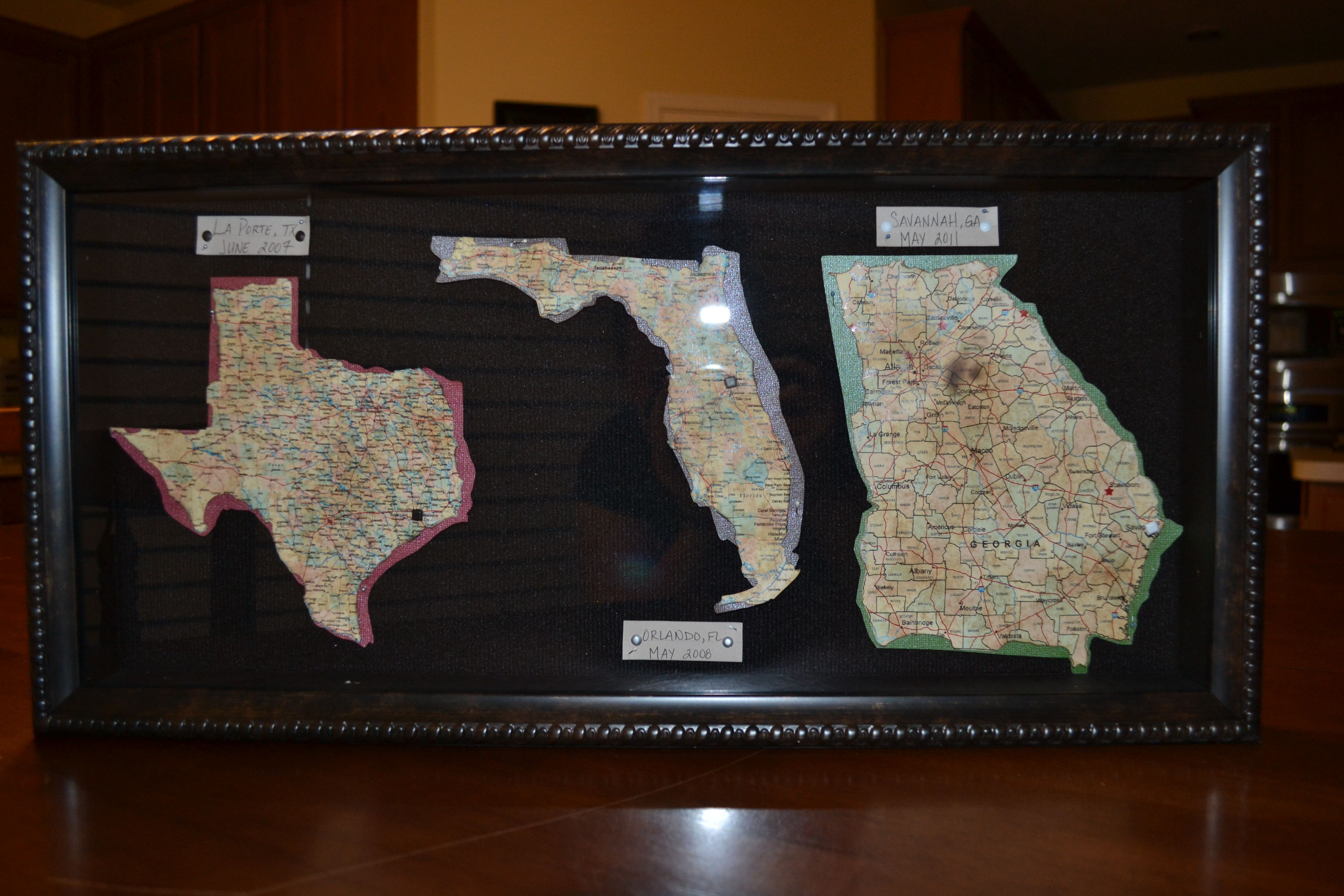 I Had Been Seeing The Ideas For Framing Map Pieces