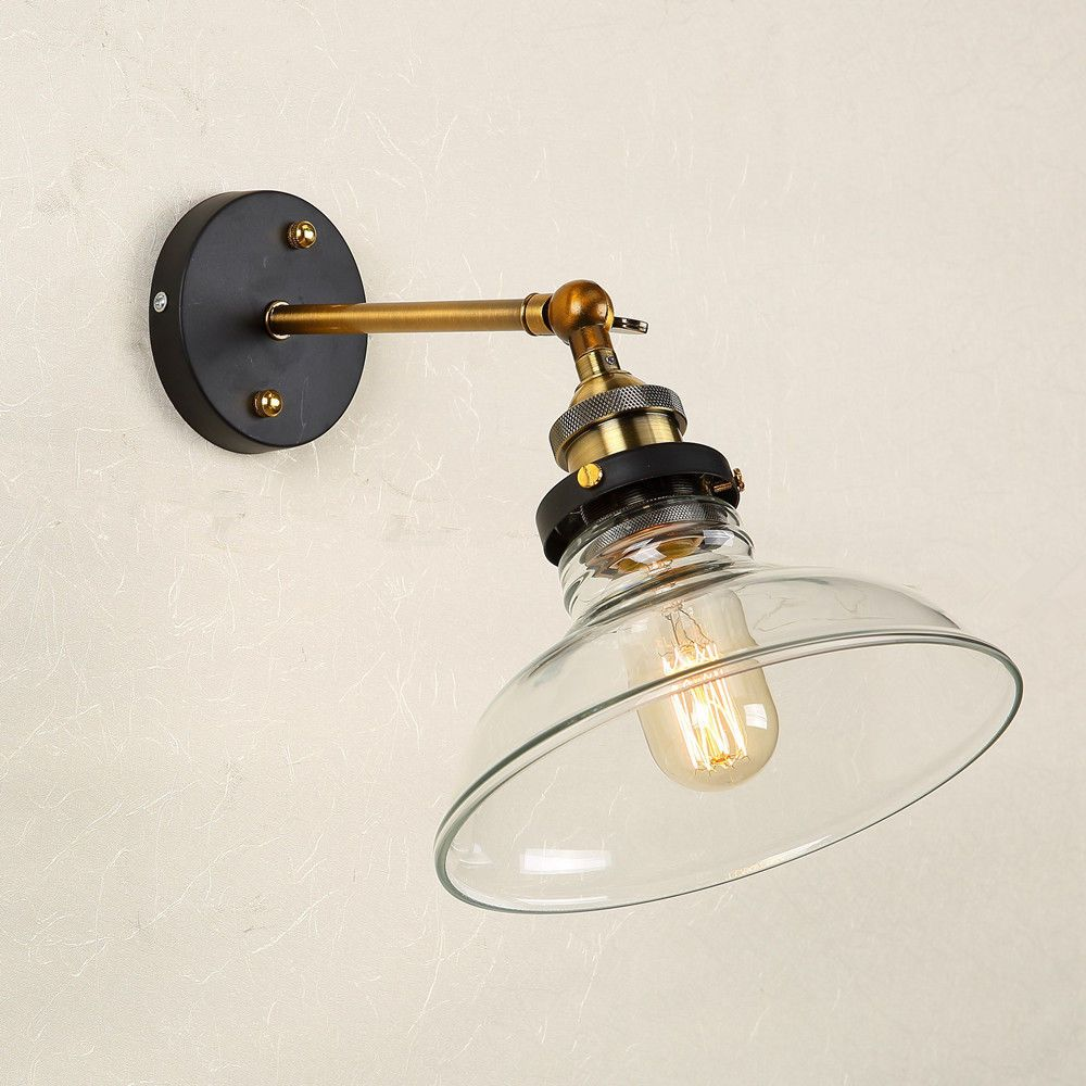 Vintage wall lamp modern wall sconce antique wall light glass antique glass light shade wall light fixtures wall sconce industrial wall lamp ebay aloadofball Images
