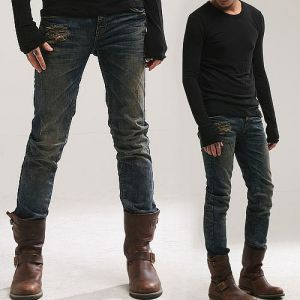 Men's style and fashion. Bottoms :: Jeans :: Dirty Vintage Washed Damage  Jeans