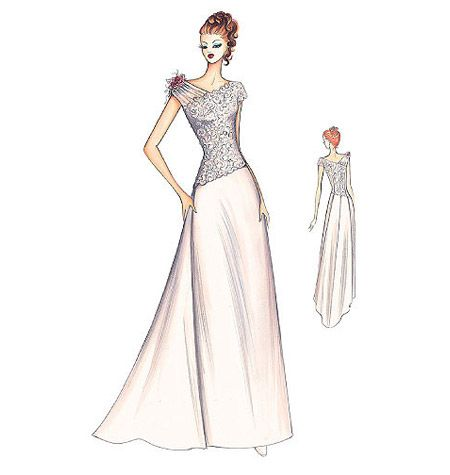 Marfy Bridal Gown interesting idea... | Illustrazioni moda ...