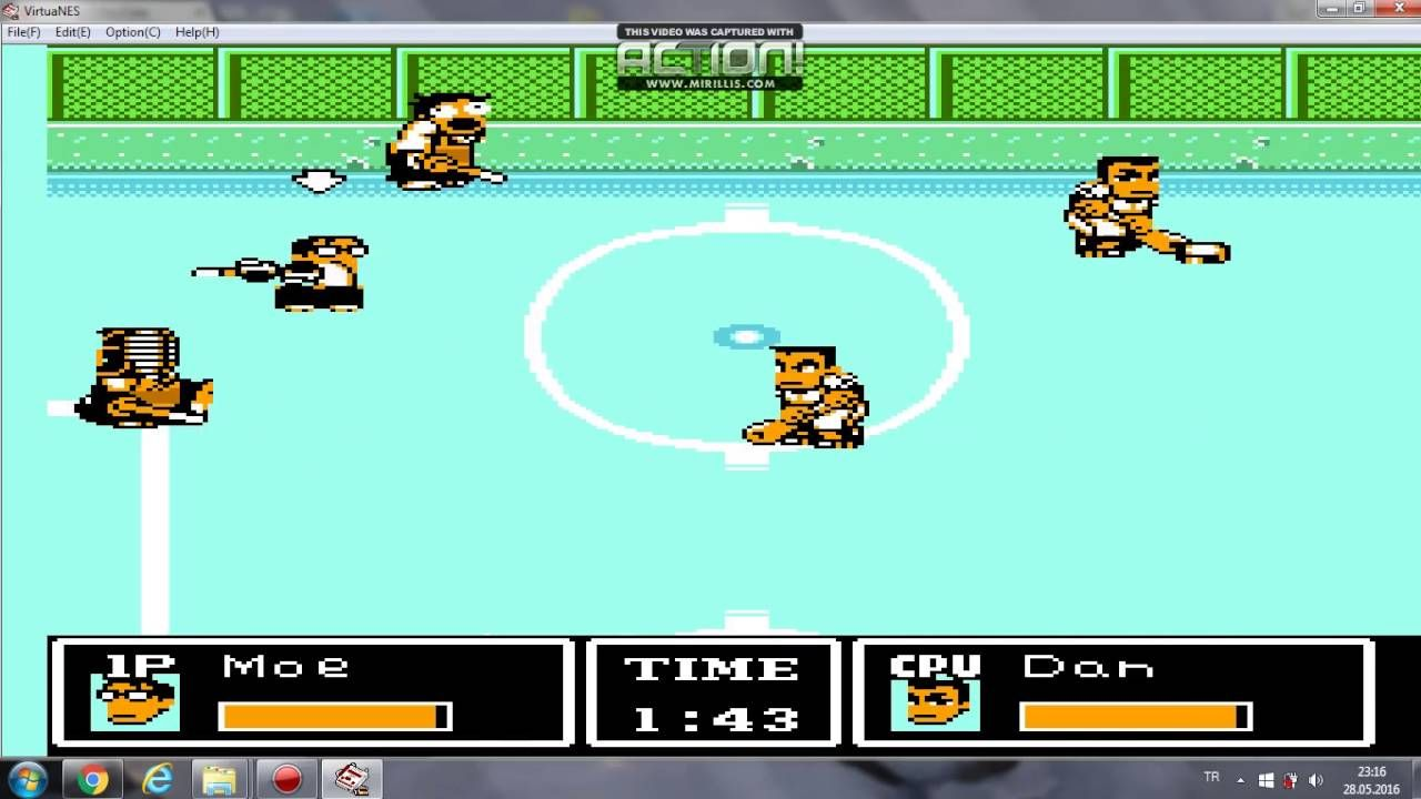 Ike Ike Nekketsu Hockey Bu Subette Koronde Dai Rantou Hi School Vs T Oyun