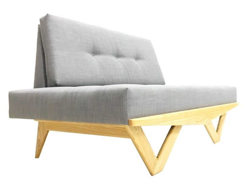The Astro Sofa By Atomic Chair Company With Blonde Base
