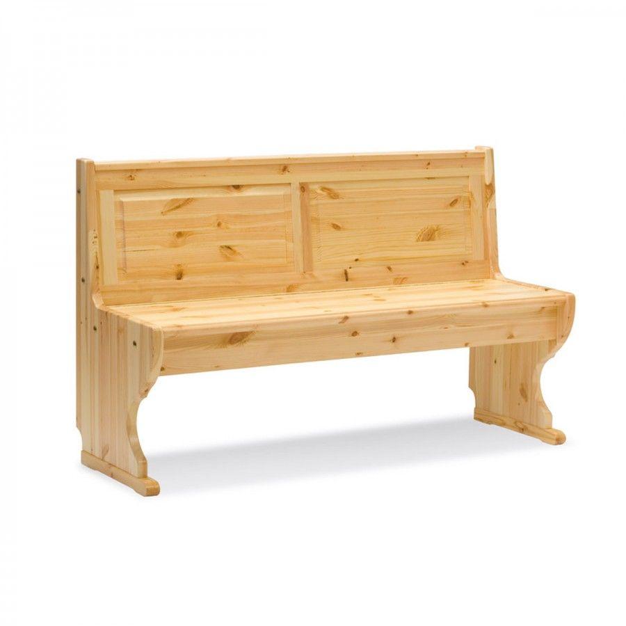 PARADISO PANCA 136, realizzata in legno di pino e ha il classico stile rustico tirolese.