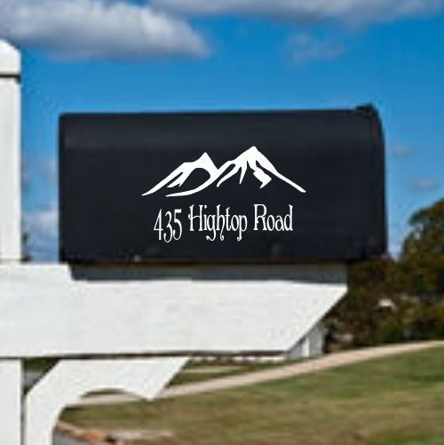Mailbox Decal - Mountain Address Decal by DesignsByLaurieann on Etsy
