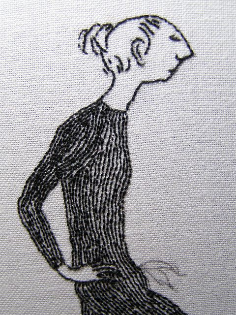 Edward Gorey embroidery detail Judy Plum ~ I love this kind of embroidery work. It's just so different from the norm