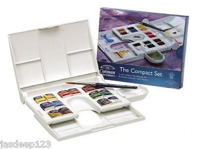 Details About Winsor And Newton Cotman Watercolour Compact Set