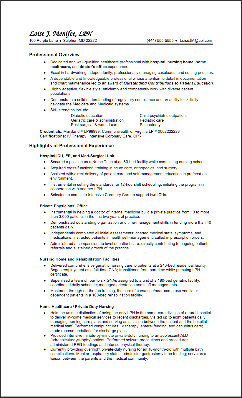 Resume For New Nurse Hospital Nurse Resume Templates  Httpwww.resumecareer .