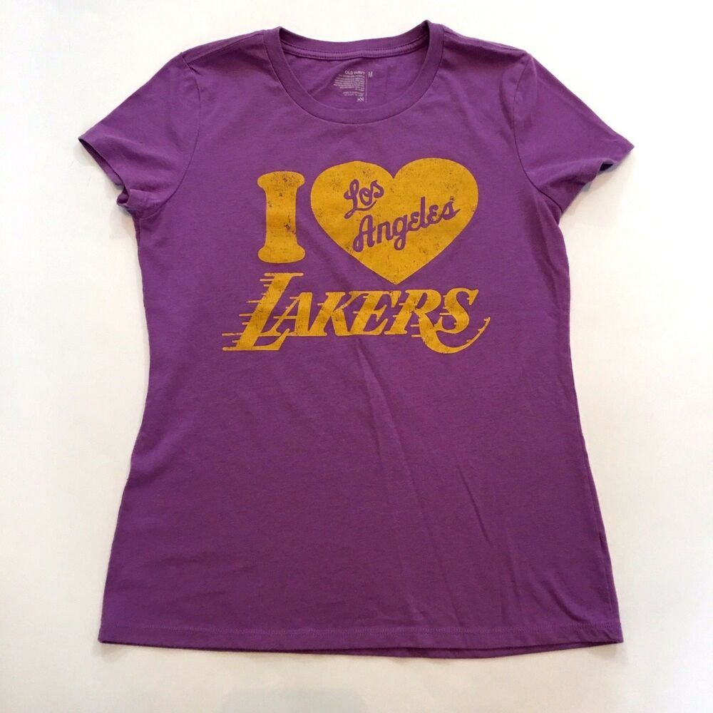 I Love Los Angeles Lakers Old Navy Purple Graphic Tee Top Size M Short Sleeve #affilink