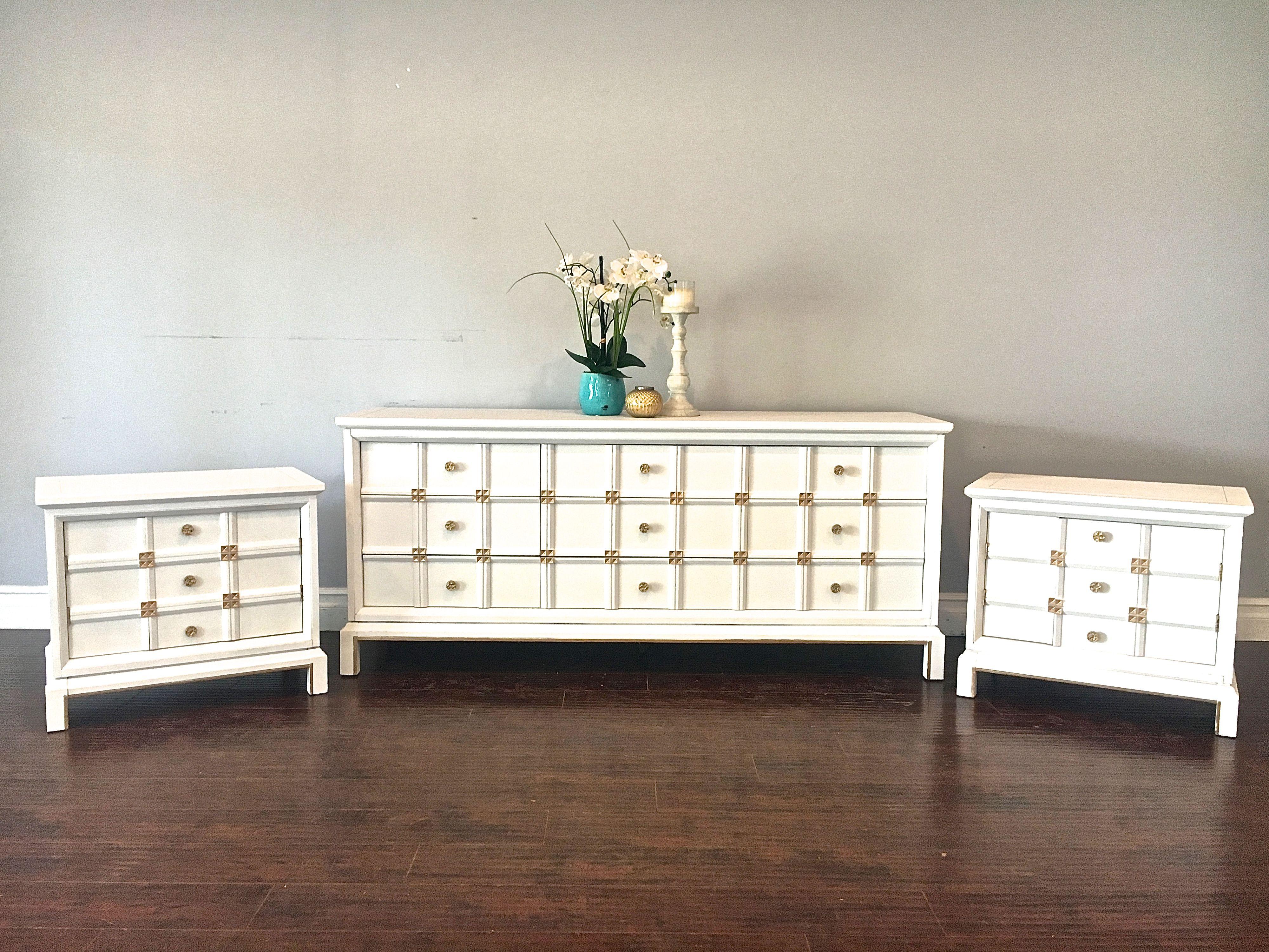 White Gold Dresser Set 1 400 Sold Sets Ing