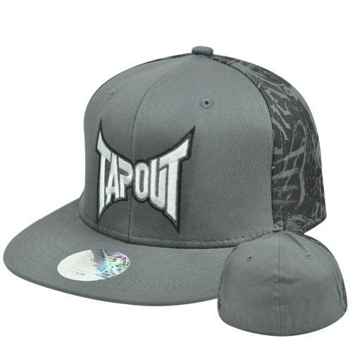 643bce49b88 Tapout Cage Fighting UFC MMA Stretch Flex Fit Large XLarge Flat Bill Hat Cap  by Tap