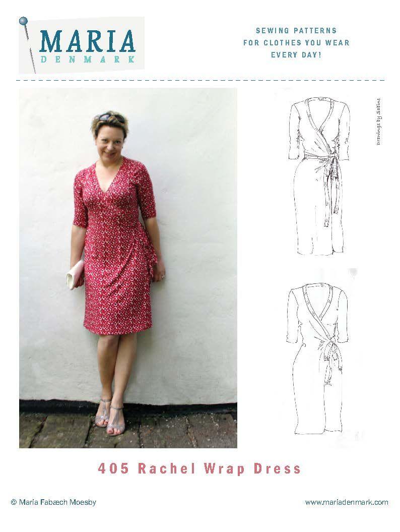 Rachel Pattern Hack: Faux Wrap Dress or top | My style | Pinterest ...