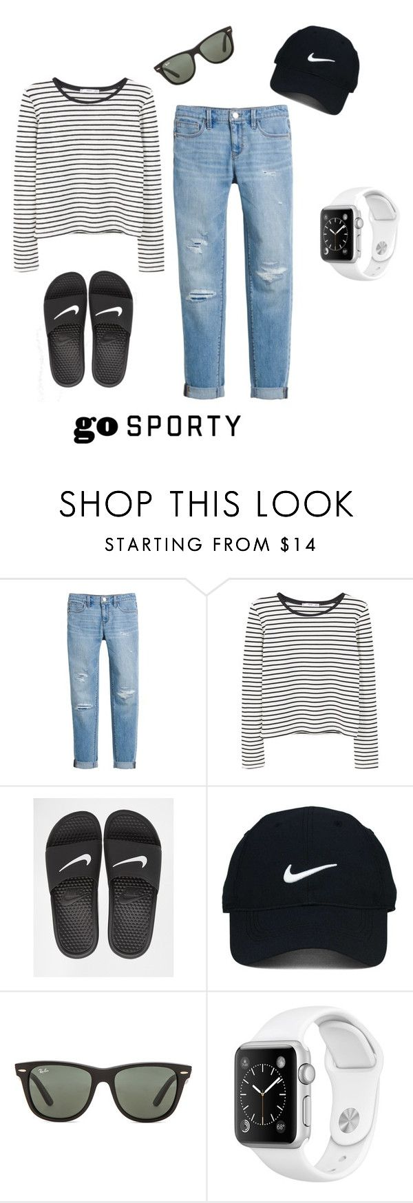 """Go Sporty"" by lolabelle1963 ❤ liked on Polyvore featuring White House Black Market, MANGO, NIKE, Nike Golf and Ray-Ban"