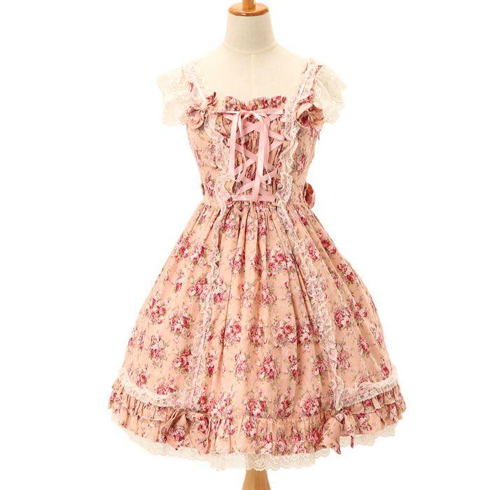 花柄ジャンパースカート|ゴスロリ・ロリータファッション服の通販はワンダーウェルト