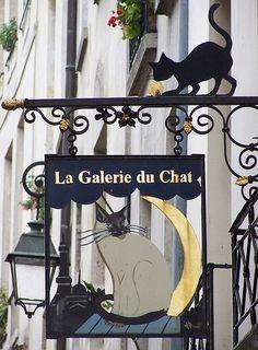 Le Chat Noir Art Hanging Signs Unique Art
