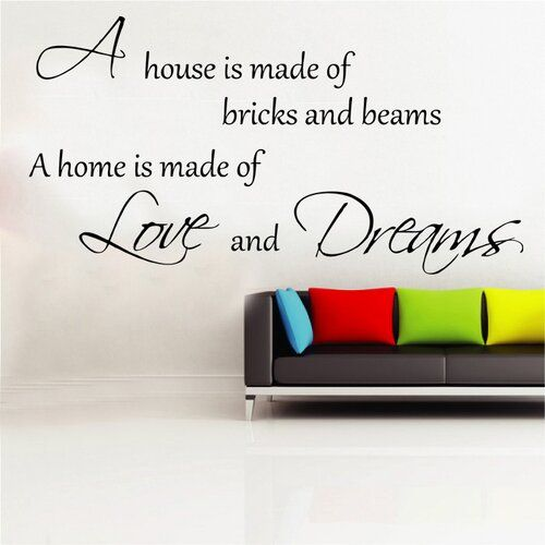 Photo of East Urban Home Wandtattoo Home Is Made Of Love And Dreams | Wayfair.de