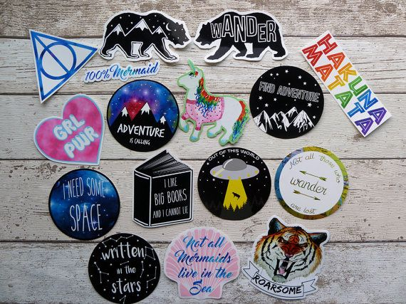 Any 5 vinyl stickers you choose laptop stickers sticker pack cool stickers travel