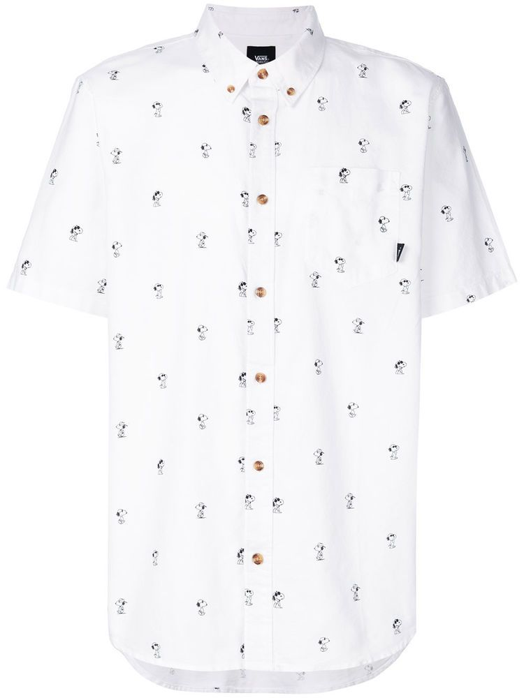 2d9132fddb412c New Vans X Peanuts White Snoopy Button Down Houser Shirt Men s Size Medium
