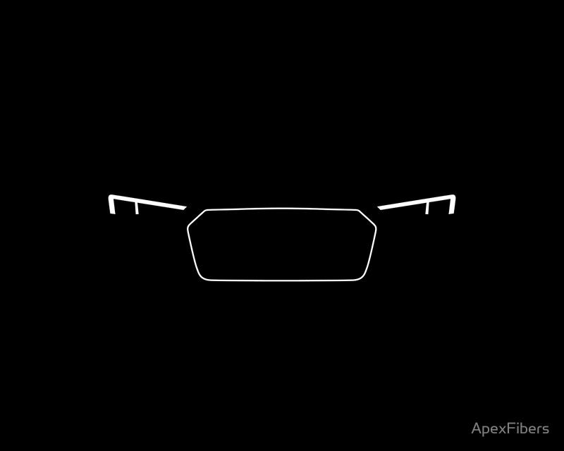 Audi R8 Wallpaper Iphone 6 Super Car Led Headlights And Gril Poster By Apexfibers