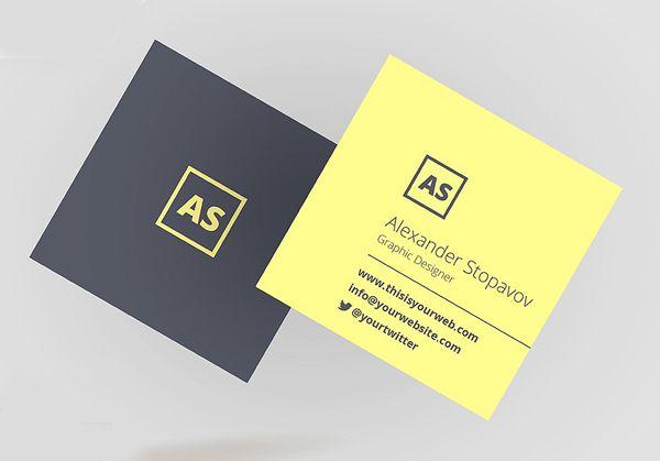 Square executive business card logomarcas pinterest business square executive business card colourmoves
