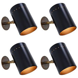 Black Lightolier Sconces