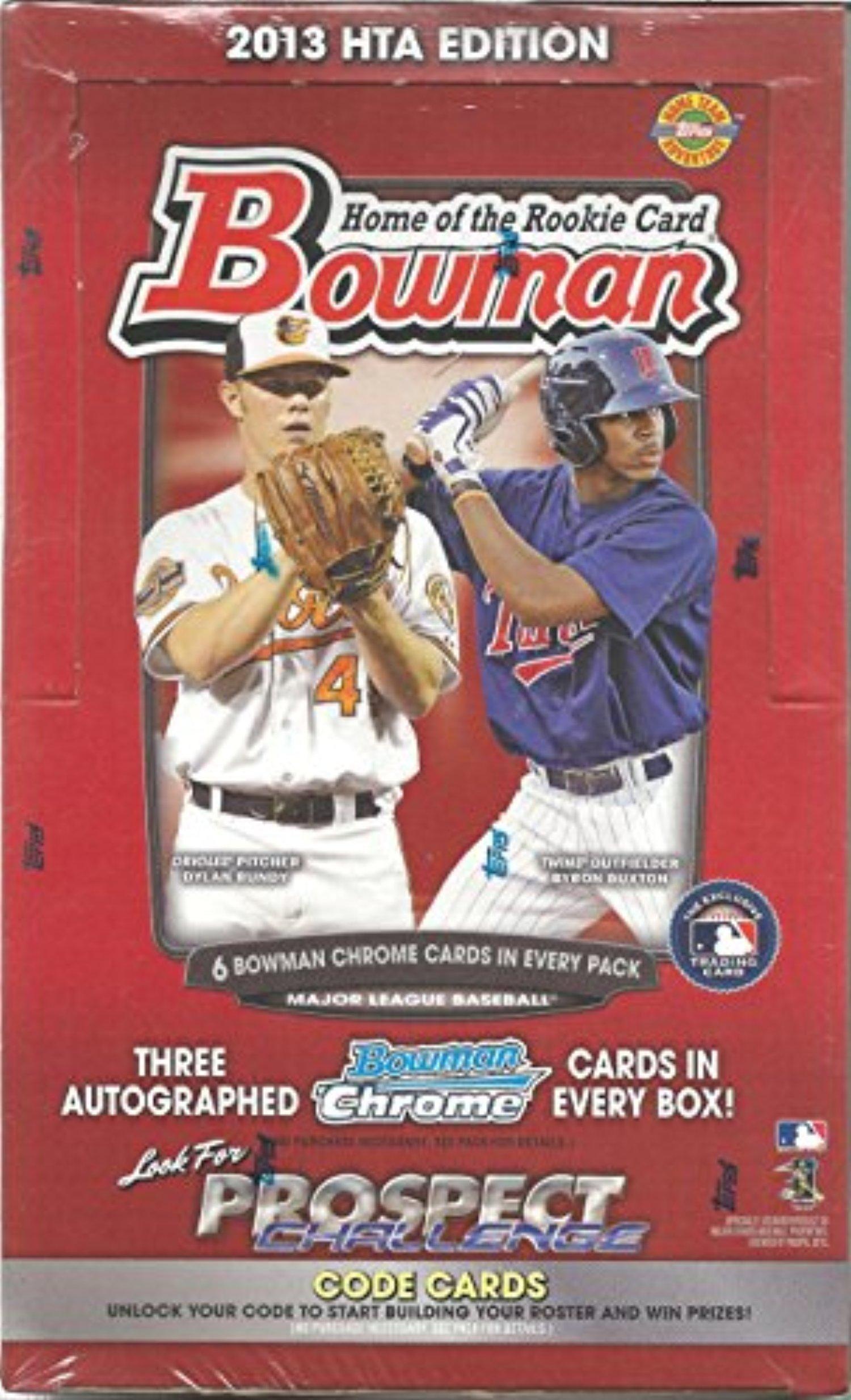 2013 bowman baseball sealed jumbo box of 12 packs 3 bowman