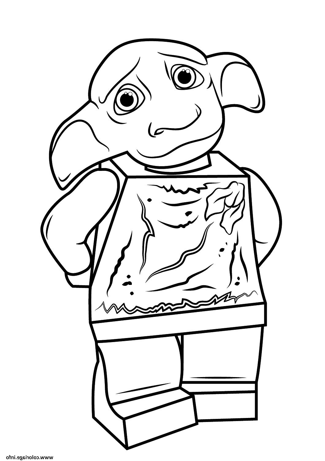 Lego Harry Potter Dobby Harry Potter Coloriage Dessin Harrypotter