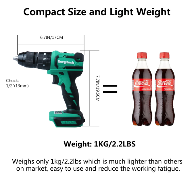 18v Compact Impact Drill Driver Et05 Cordless Electric Power Tools With Battery Charger Drill Driver Electric Power Tools Drill