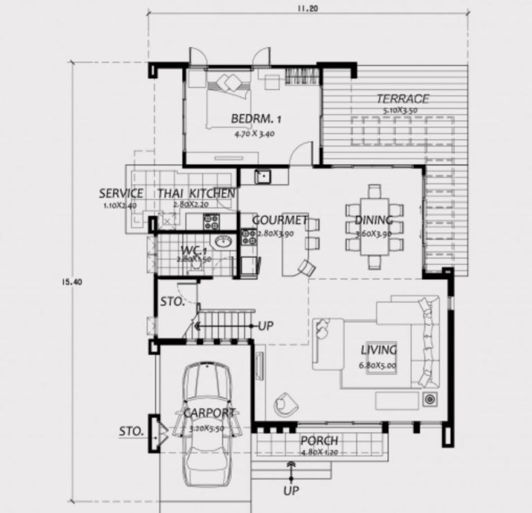 Home Design 11x15m With 4 Bedrooms Home Design With Plan Denah Desain Rumah Desain Rumah Desain Rumah Modern