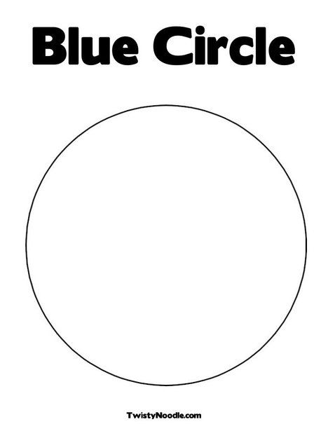 Blue Circle Coloring Page From Twistynoodle Com With Images