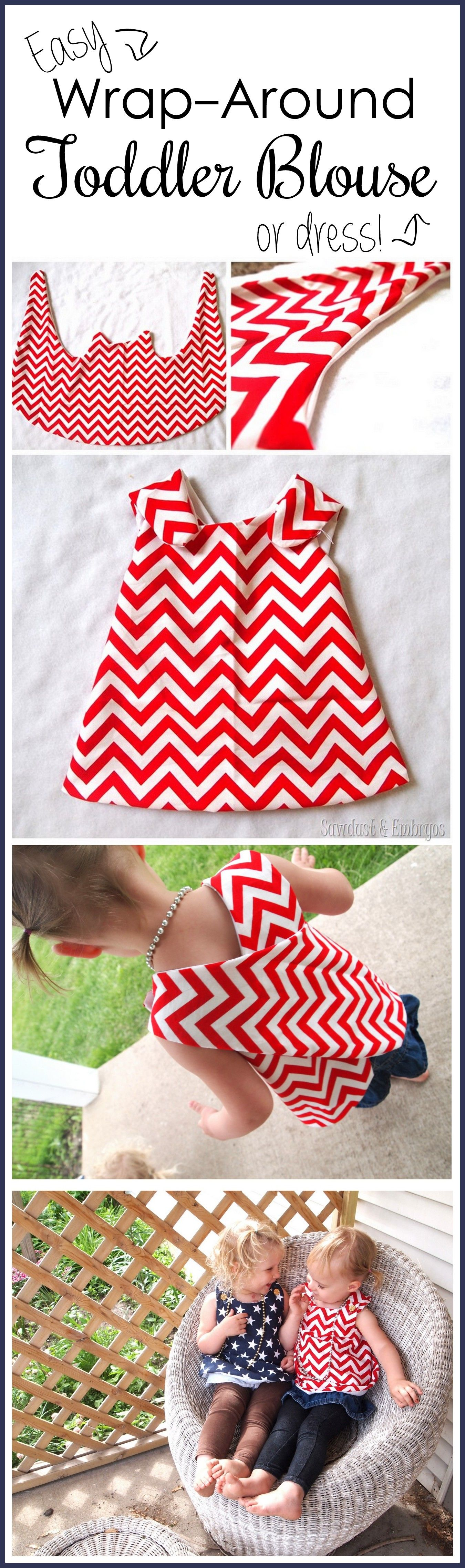 Info's : Suuuper simple wrap-around dress tutorial... so cute for toddlers! {Reality Daydream}