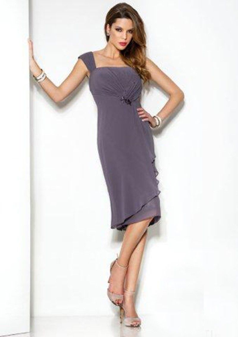 Knee length cocktail dresses with jacket