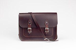Beautiful handcrafted leather satchel. £250 www.bentleyleathercraft.com