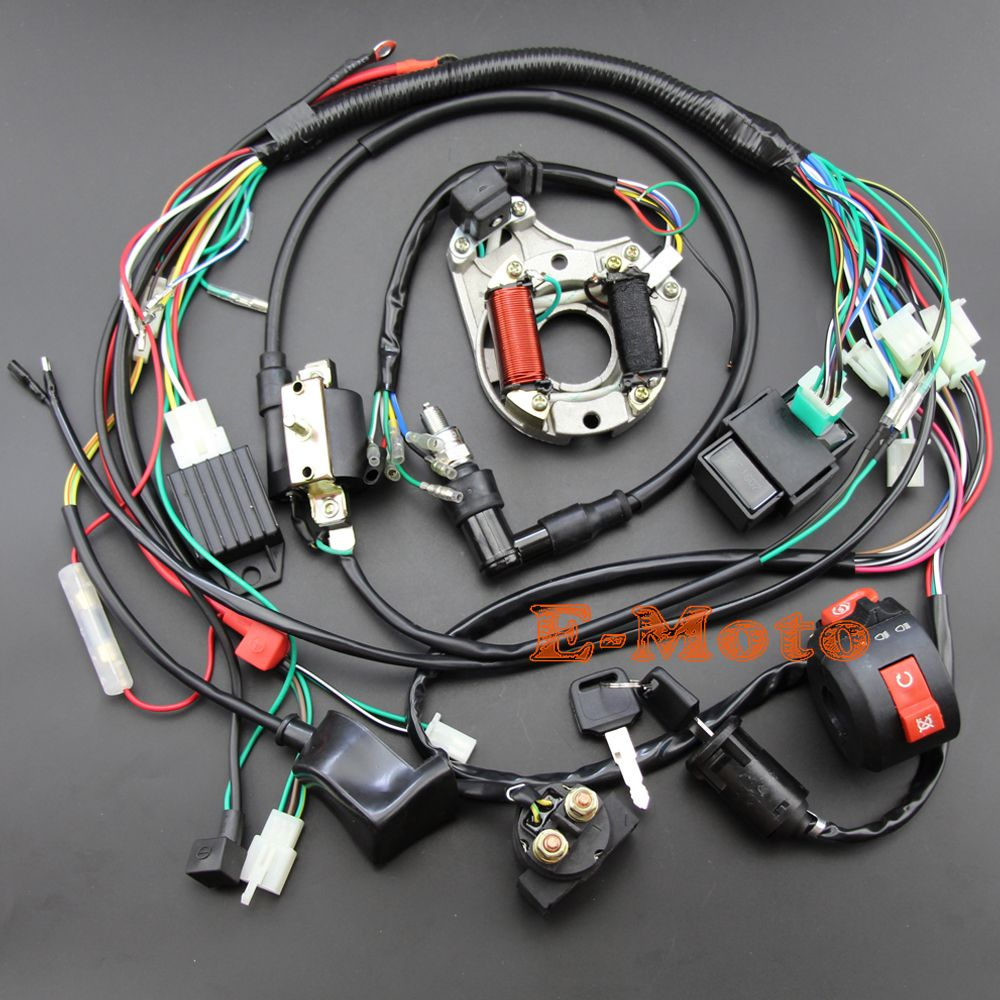 110 pit bike wiring diagram volledige elektra kabelboom cdi coil kill switch c7hsa  volledige elektra kabelboom cdi coil kill switch c7hsa