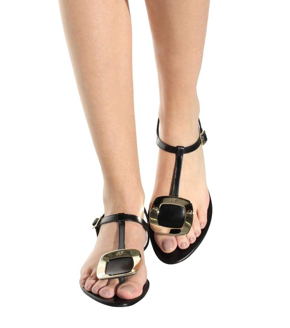 Roger Vivier Thong Chips embellished leather sandals RDEvHtUi