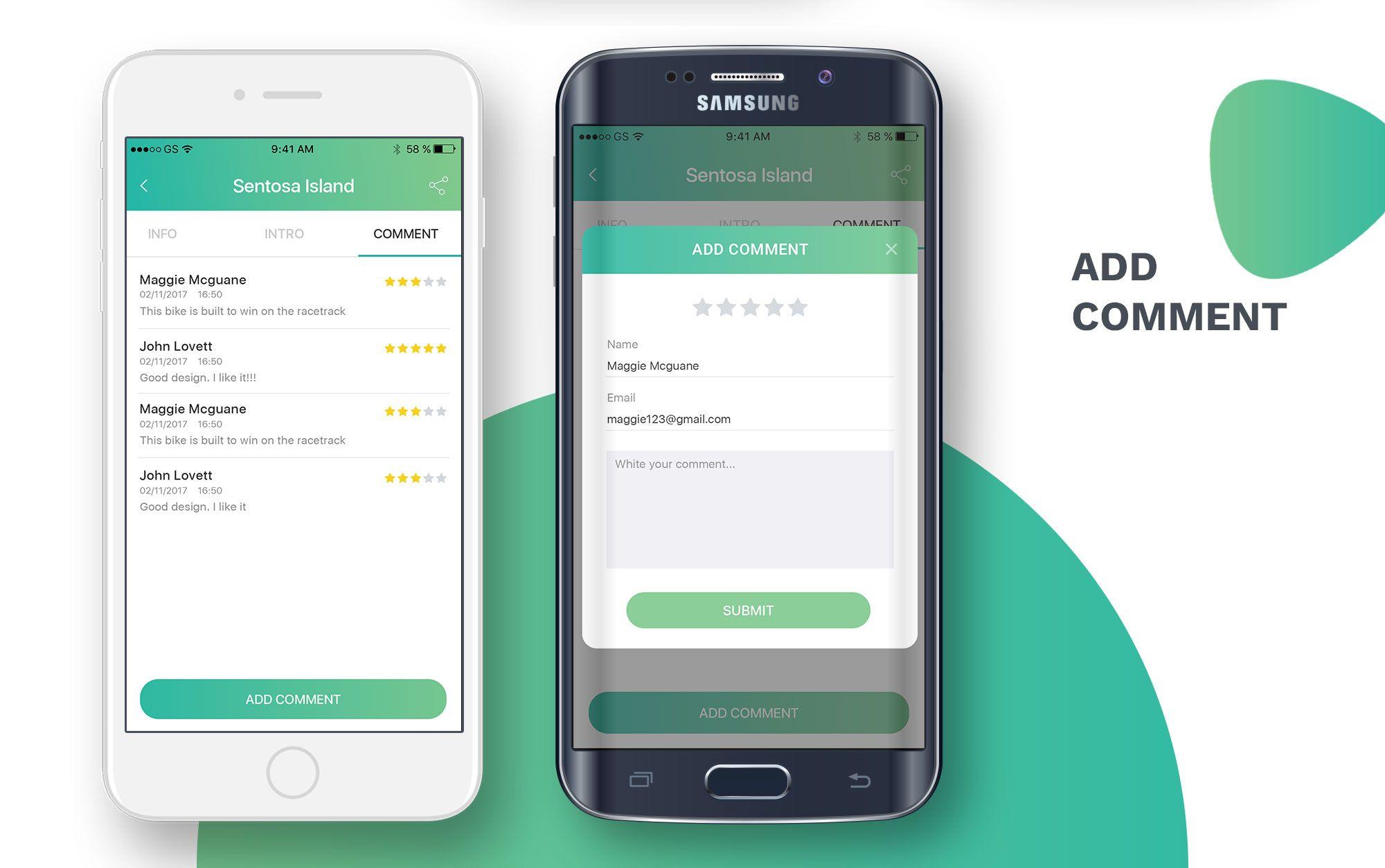 City travelling information android app met afbeeldingen
