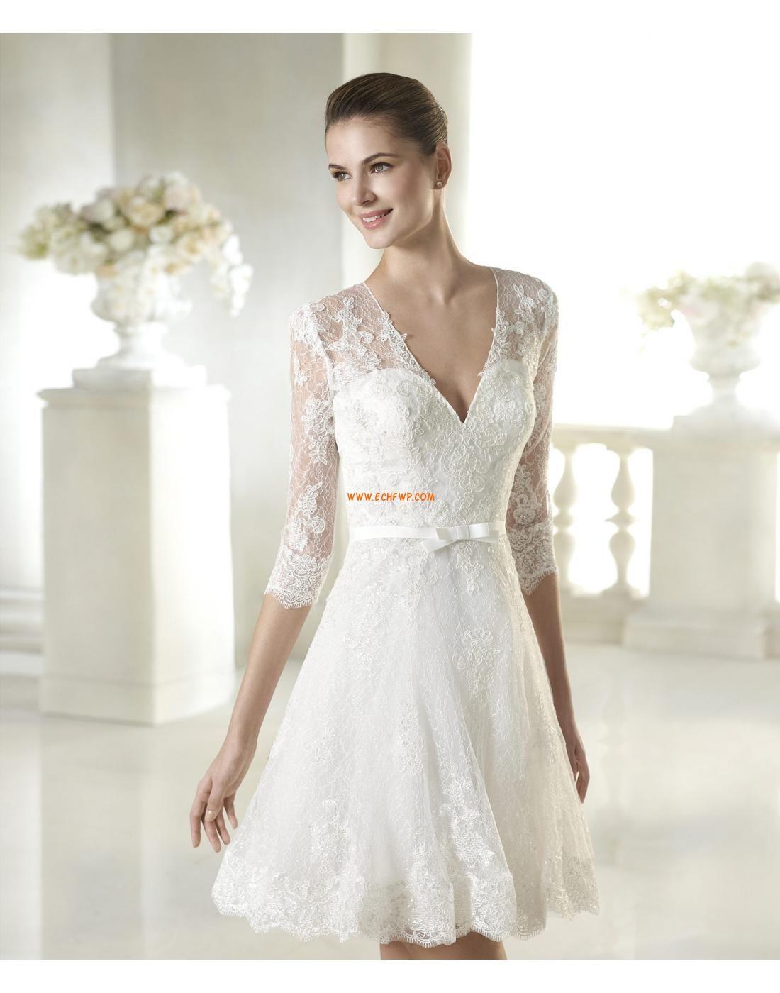 Elegant & Luxuriös durchsichtige Ärmel Reißverschluss Brautkleider 2015