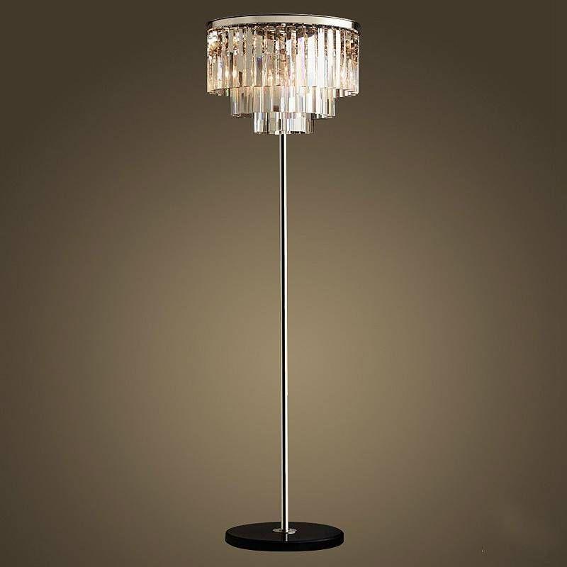 Chrome Silver Led Crystal Floor Lamp Crystal Table Desk Light Bedroom Living Room Floor Standing Lamp E14 110 240v Led Vloerlamp Crystal Floor Lamp Floor Lamp Floor Standing Lamps