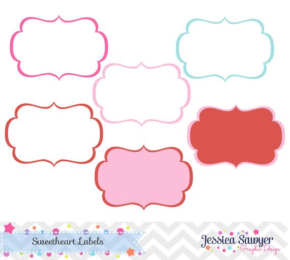 ValentineS Day Label Clipart  Instant Download Commercial Or