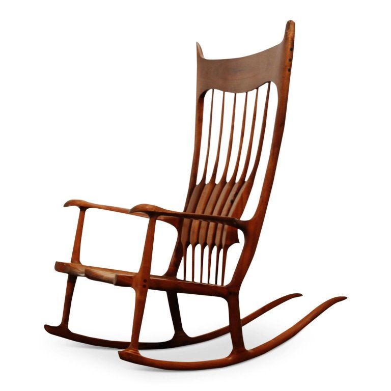 Miraculous Large Scale Sam Maloof Style Studio Craftsman Rocking Chair Ibusinesslaw Wood Chair Design Ideas Ibusinesslaworg
