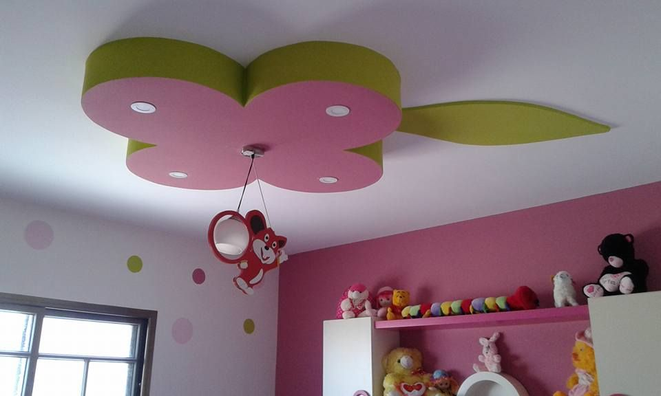 Girls And Kids Room Gypsum Bouard Decor Drawing Room Ceiling Design Ceiling Design Bedroom Bedroom Decor Lights