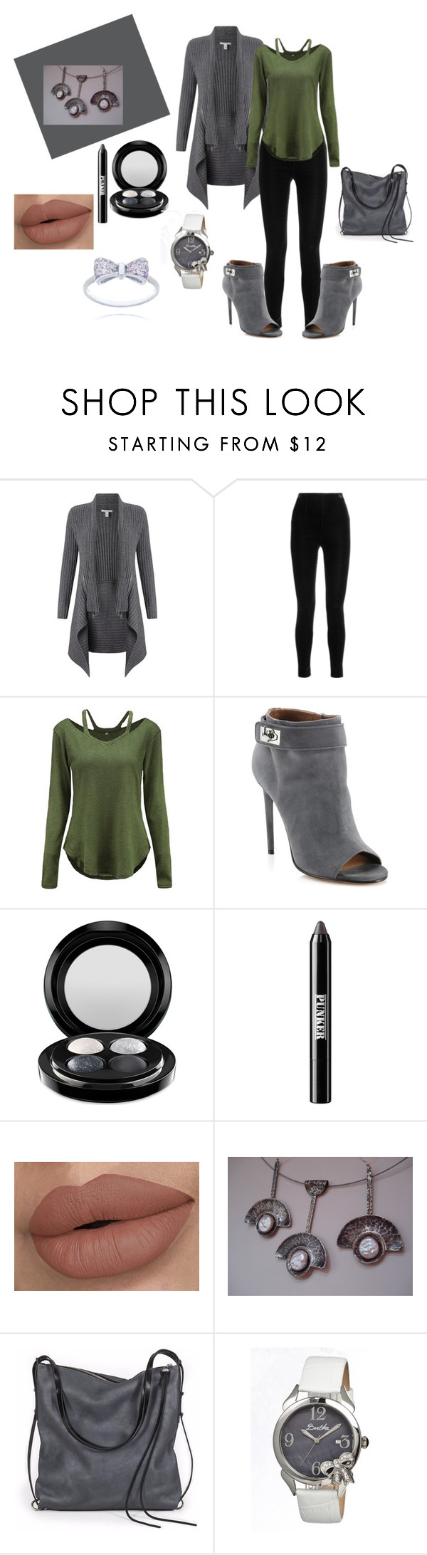 AnnaRecycle by bamagirl0320 on Polyvore featuring Autumn Cashmere, Balmain, Givenchy, Ina Kent, Bertha, MAC Cosmetics and Ardency Inn