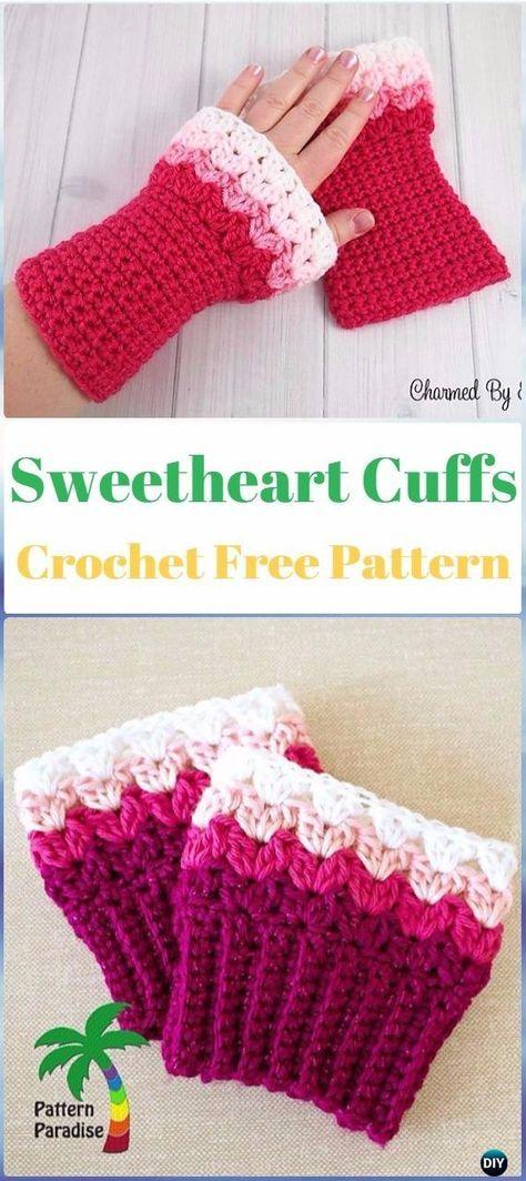 Crochet Sweetheart Boot Cuffs Free Pattern - Crochet Boot Cuffs Free ...